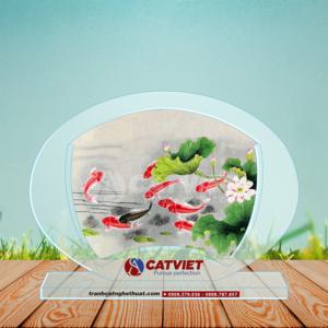 Cá chép và hoa sen – Tranh Cửu Ngư Quần Hội