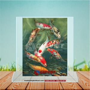 Tranh Cá Chép – Tranh Cửu Ngư Quần Hội