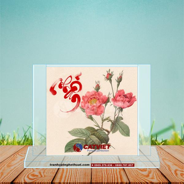 Tranh cát hoa hồng
