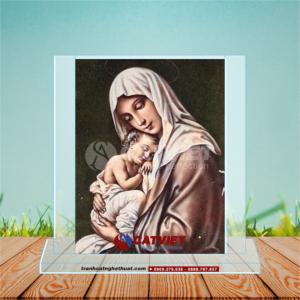 Tranh Cát Đức Mẹ Maria Bồng Chúa Hài Đồng