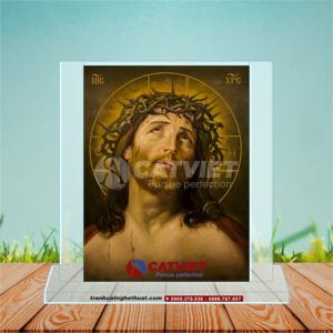 Tranh Cát Chúa Giêsu Đội Mão Gai